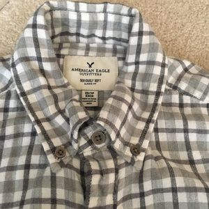 American Eagle Outfitters Shirts - AEO Seriously Soft Gary Plaid Button-Down Shirt-XS